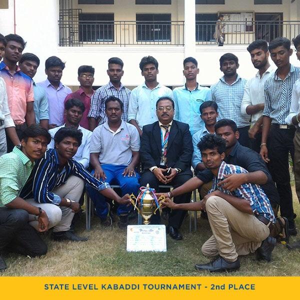 State Level Kabaddi Tournament Second Place