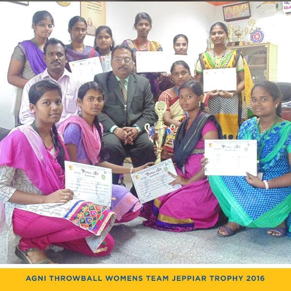 Agni Throw Ball Women Team Fourth Place Jeppiaar Trophy 2016