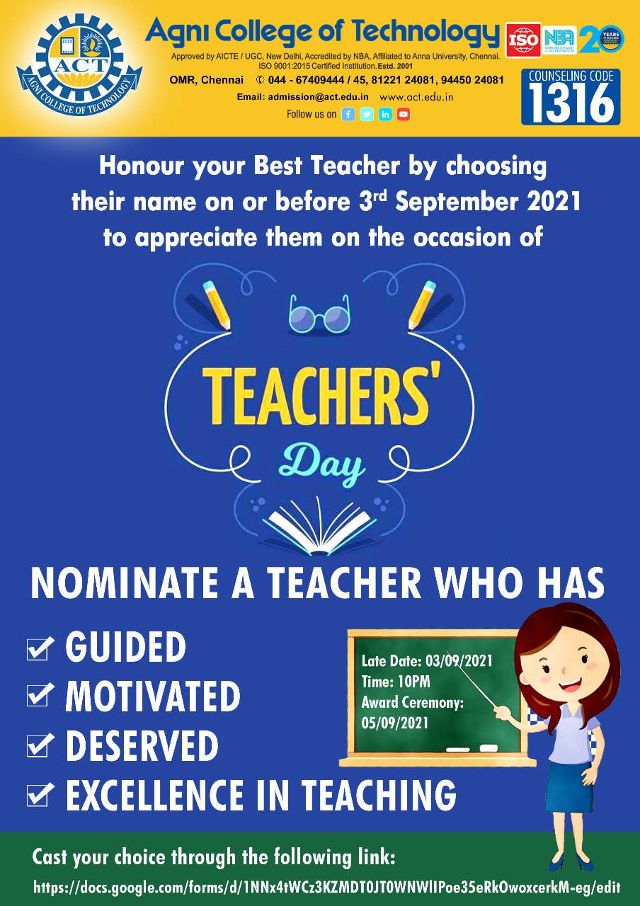 Best Teacher VOTING Link for Students