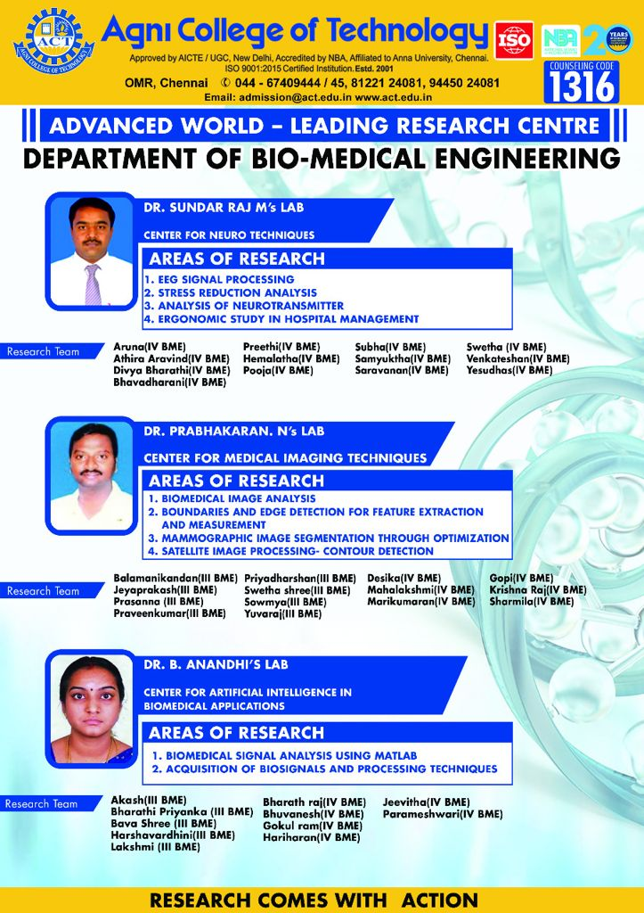RESEARCH LAB INAUGUARTED  FROM DEPARTMENT OF BIO MEDICAL ENGINEERING